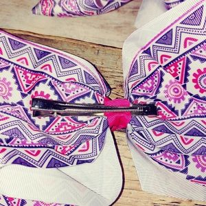 Accessories - Large hairbow alligator clip pink 2 pack
